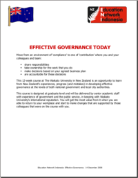 Effective Governance Today